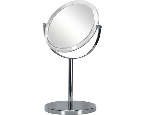 Miroir de maquillage transparent quintuple agrandissement