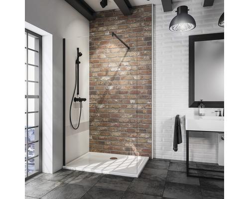 Paroi de douche à l''italienne Loft Schulte Alexa Style 2.0 largeur 120 cm verre transparent couleur de profilé noir