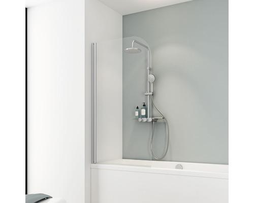 Pare-baignoire Schulte Komfort 1 pièce 1400x800mm verre véritable transparent clair alu nature