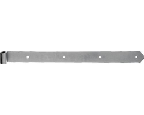 Paumelle de volet Type 6 forme droite, semi-lourde, 400x13x40mm, acier inoxydable