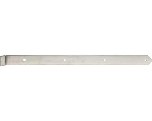 Paumelle de volet Type 6 forme droite, semi-lourde, 600x13x40mm, acier inoxydable