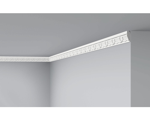 Moulure de plafond E12 blanc 2 m lot de 2