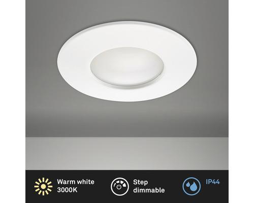 Éclairage à LED à encastrer blanc variable avec ampoule 400lm 3000K blanc chaud Ø 60mm rond plastique IP44
