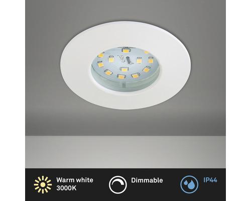 Éclairage à LED à encastrer blanc variable avec ampoule 470lm 3000K blanc chaud Ø 60mm rond plastique IP44