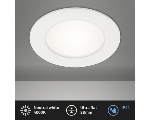 Spot à encastrer LED IP44 6W 600 lm 4000 K blanc neutre blanc Ø 120/110 mm 230V