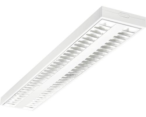 Éclairage à encastrer LED acier/polycarbonate 2 ampoules 62W7500 lm4000 K blanc neutre 1500X200 mm Asym blanc couvercle transparent