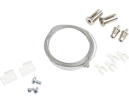 Câble de suspension pour luminaires plafonniers blanc 2 pièces