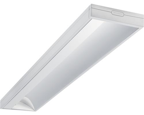 Éclairage à encastrer LED acier/polycarbonate 33W4100 lm4000 K blanc neutre 1500X200 Asym blanc couvercle transparent