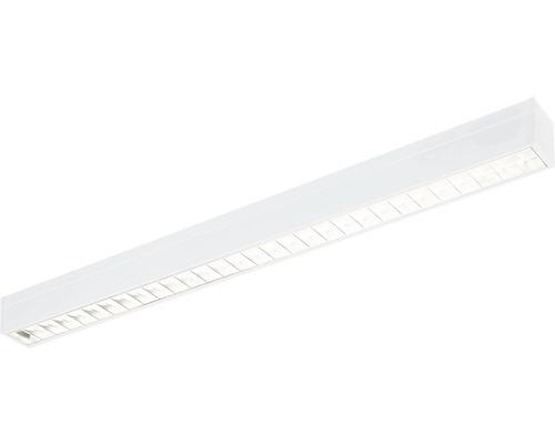 Éclairage à encastrer acier LED/polycarbonate 27W3100 lm4000 K blanc neutre 1200X90 mm Asym blanc couvercle transparent