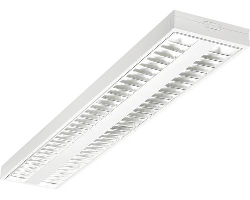 Éclairage à encastrer LED acier/polycarbonate 2 ampoules 52W6000 lm4000 K blanc neutre 1200X200 mm Asym blanc couvercle transparent