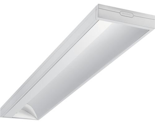 Éclairage à encastrer acier LED/polycarbonate 28W3250 lm4000 K blanc neutre 1200X200 mm Asym blanc couvercle transparent