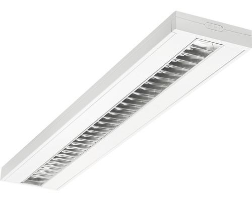 Éclairage à encastrer acier LED/polycarbonate 28W3250 lm3100 K blanc neutre 1200X200 mm Asym blanc couvercle transparent