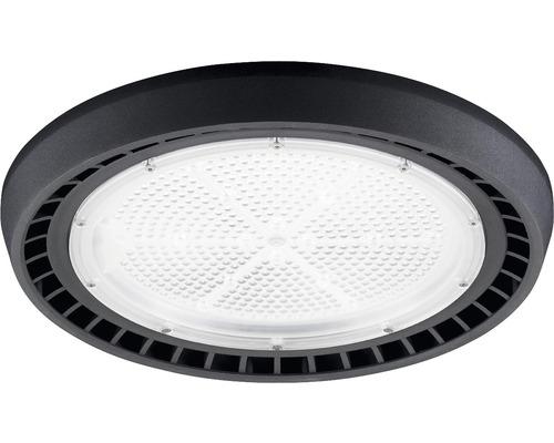 luminaire à haute intensité alu IP65 100W13000 lm4000 K blanc neutre noir verre transparent 55°