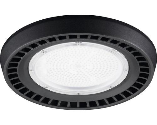 luminaire à haute intensité alu IP65 150W19500 lm4000 K blanc neutre noir verre transparent 55°