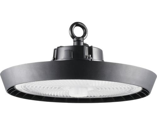Luminaire à haute intensité alu IP65 220W31000 lm6500 K blanc lumière du jour noir verre transparent 85°