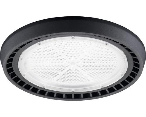 Luminaire à haute intensité alu IP65 200W26000 lm6500 K blanc lumière du jour noir verre transparent 85°