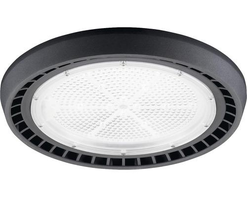 luminaire à haute intensité alu IP65 200W26000 lm4000 K blanc neutre noir verre transparent 55°