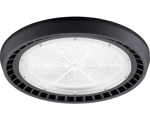 luminaire à haute intensité alu IP65 200W26000 lm4000 K blanc neutre noir verre transparent 85°