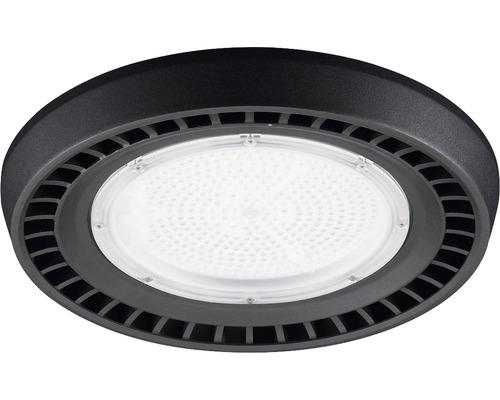 Luminaire à haute intensité alu IP65 150W19500 lm6500 K blanc lumière du jour noir verre transparent 85°