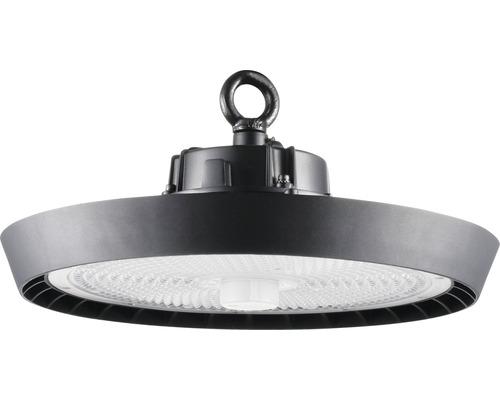 luminaire à haute intensité alu IP65 220W31000 lm4000 K blanc neutre noir verre transparent 85°
