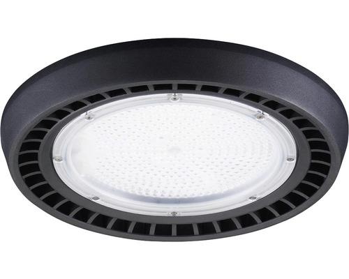 luminaire à haute intensité alu IP65 100W13000 lm4000 K blanc neutre noir verre transparent 85°