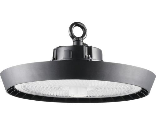 luminaire à haute intensité alu IP65 220W31000 lm4000 K blanc neutre noir verre transparent 55°