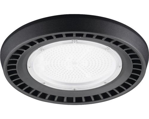 luminaire à haute intensité alu IP65 150W19500 lm4000 K blanc neutre noir verre transparent 85°