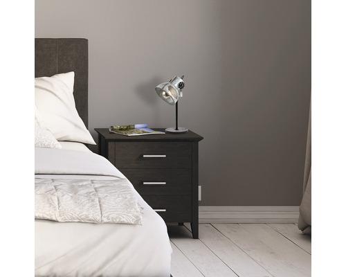 Lampe de table acier/bois à 2 ampoules h 175 mm Barnstaple marron-patine/noir avec interrupteur de câble