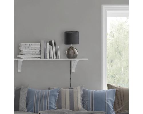 Lampe de table céramique/ textile 1 ampoule hxLxl 390x230x130 mm Marine vert noir abat-jour noir avec cordon avec interrupteur
