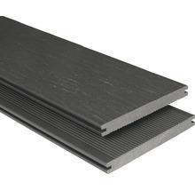 Planche pour terrasse en WPC rustique profilé plein gris-marron 20x190x3000 mm-thumb-0