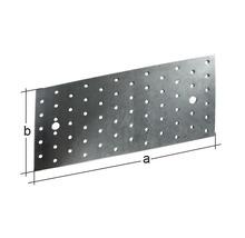 Plaque perforée 240x80mm, galvanisée sendzimir, 1 unité-thumb-1