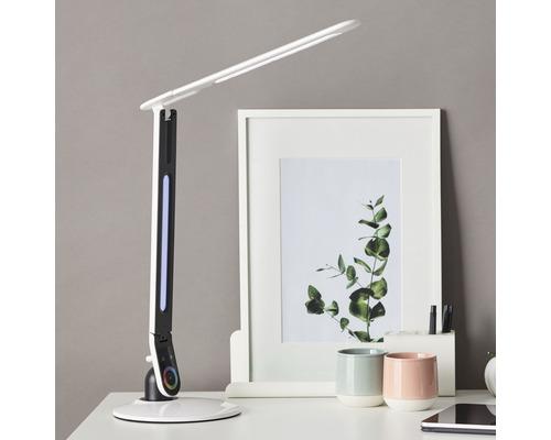Lampe de bureau métal/plastique 10W 400 lm 4000 K blanc neutre Hxl 795x187 mm Howey blanc