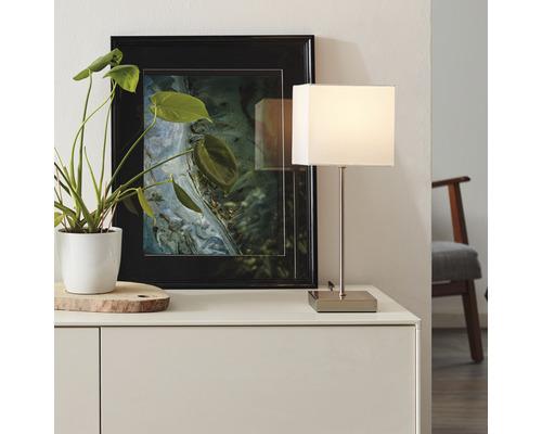Lampe table 1 ampoule H430mm Aglae blanc/chrome