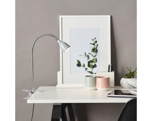 Lampe de bureau à pince LED 2,4W 200 lm 3000 K blanc chaud h 380 mm Anthony titane
