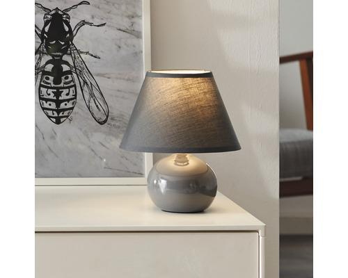 Lampe de table Primo grise 1 x 40 W E14