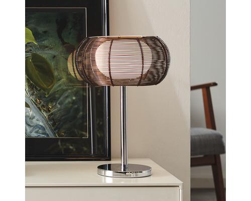 Lampe de table métal et verre à 1ampoule Relax bronze chromé hxØ390x260mm