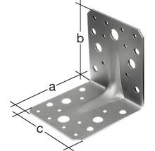 Cornière d''angle à charge lourde avec une nervure 70x70x55mm, galvanisée sendzimir, 12 unité-thumb-1