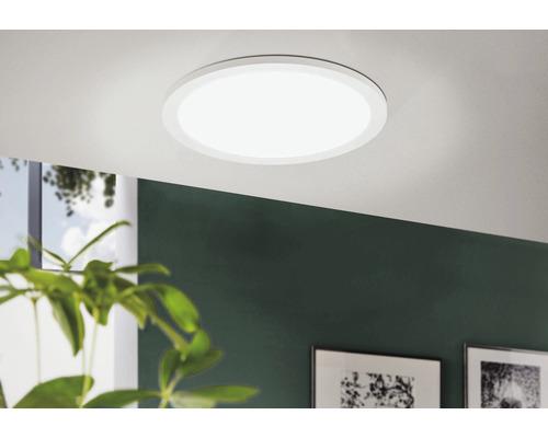 Panneau LED à intensité lumineuse variable 24W 2800 lm 2800 K blanc chaud 300x300 mm blanc