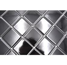 Mosaïque céramique Quadrat uni CD190 noir brillant 30x30cm-thumb-4