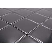 Mosaïque céramique Quadrat uni CD190 noir brillant 30x30cm-thumb-2