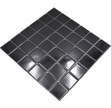 Mosaïque céramique Quadrat uni CD190 noir brillant 30x30cm-thumb-3