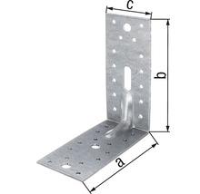 Cornière d''angle à charge lourde avec une nervure 150x150x65mm, galvanisée sendzimir, 1 unité-thumb-1