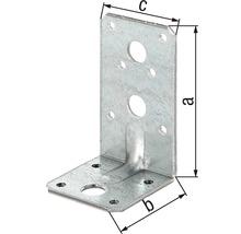 Cornière d''angle à charge lourde avec une nervure 90x50x50mm, galvanisée sendzimir, 1 unité-thumb-1