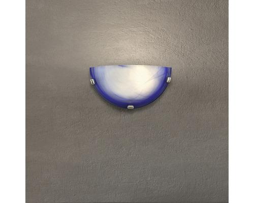 Applique murale 1 ampoule l 300 mm Mauritius bleu marbré