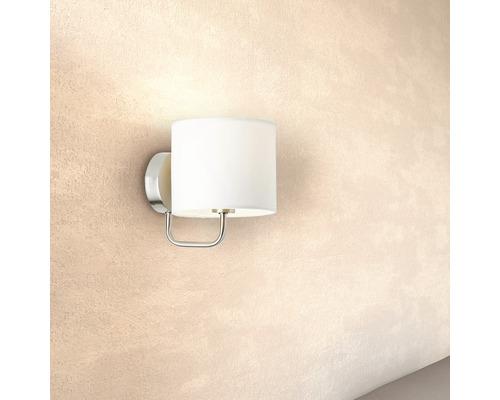 Applique murale 1 ampoule h 180 mm Sandra blanc/chrome