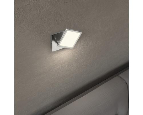 Applique murale LED Uranus fer/blanc avec 1ampoule 500lm 3000K blanc chaud l 110mm