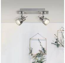 Spot de plafond LED 2x2,5W 2x240 lm 3000 K blanc chaud l 305 mm Kassandra fer/chrome/mat-thumb-0