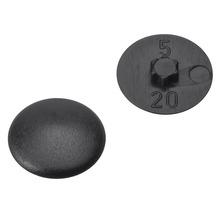 Caches gr. 20 pour empreinte étoile noirs en plastique 200 unités-thumb-0