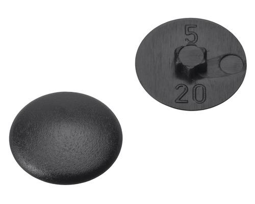 Caches gr. 20 pour empreinte étoile noirs en plastique 200 unités