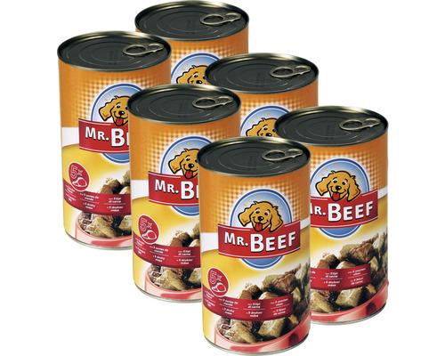 Aliment pour chien contenant 5 sortes de viande Mr. Beef 1200 g boîte